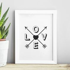 Love Heart http://www.notonthehighstreet.com/themotivatedtype/product/love-heart-arrow-print Limited edition, order now!