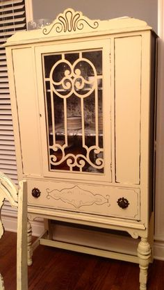 Painted china cabinet