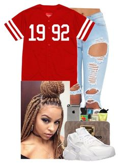 nike shoes Untitled #344 by taygotthejuice ❤ liked on Polyvore featuring NIKE