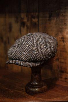 Harris Tweed Waistcoat, English Clothes, Baker Boy Cap, Donegal, Boy Blue, Gentleman Style, Caps Hats, Herringbone, Blue Stripes