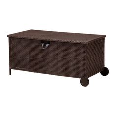 AMMERÖ Storage bench IKEA Hand woven plastic rattan offers the same look as natural rattan but is more durable for outdoor use. $139