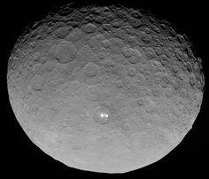 Pontos luminosos no planeta anão Ceres.