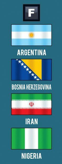 FIFA World Cup Brazil 2014. Group F: Argentina, Bosnia and Herzegovina, Iran, Nigeria