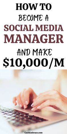 How to become a Social Media manager that makes an online income of $10,000/month: see how to make money from home using Social Media. This side hustle is about doing Social Media marketing and it will allow you to make money online while you work from home.#howtobecomeasocialmediamanager#socialmediajobs#onlinejobs#makemoneyonline#makemoneyfromhome Cash From Home, Work From Home Jobs, Make Money From Home, Way To Make Money, How To Make, Make Money Blogging, Make Money Online, Legit Online Jobs, Make Money From Pinterest
