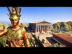 Athens acropolis with Athena statue and Parthenon, reconstruction made by Ubisoft for the game Assassin's Creed. Assassins Creed Game, Assassins Creed Odyssey, Ancient Greek City, Ancient Greece, Ancient History, Art History, Athens Acropolis, Parthenon, Athena Goddess