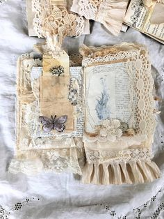 Vintage Linen and Lace Journal Heirloom Journal