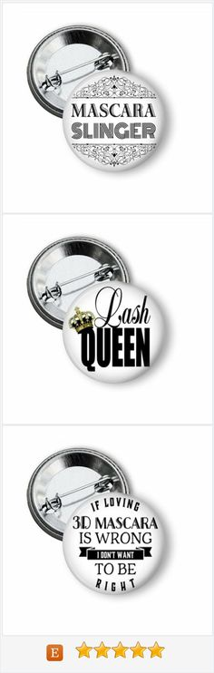 Younique Mary Kay Avon Eyelash Extensions Lashes marketing pinback buttons.  Inexpensive advertising that works.  #younique #marykay #avon #eyelashes #lashes #lashextensions #directsales #pinbackbuttons