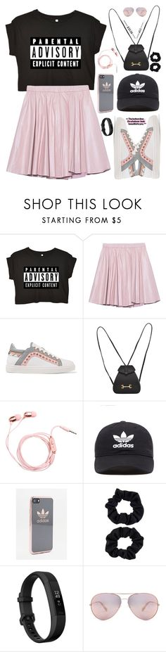 """""""Sporty Chic"""" by hafizhahtika ❤ liked on Polyvore featuring 2NDDAY, Sophia Webster, Gucci, adidas Originals, adidas, Accessorize, Fitbit and Oliver Peoples"""