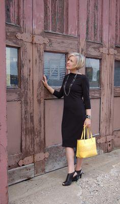 basic black with yellow bag from blue hue wonderland