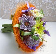 Скрапотерапия: Сладкий букет с хризантемами