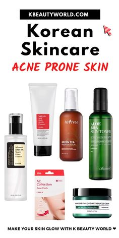 Best Toner For Acne, Best Skincare Products, Korean Products Skin Care, Retinol Products, Skin Care Routine Steps, Glass Skin, Skin Toner, Acne Prone Skin, Oily Skin Care