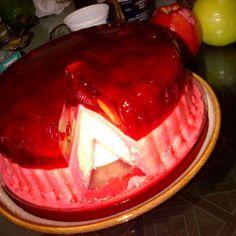 """Strawberry Raspberry Blueberry Peruvian Gelatin inside Cake """" Torta Helada Peruana"""""""