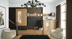 Brown wall decoration in the living room brick idea sofa cream beige carpet