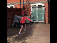 Tennis Net Training At home from Our customers Tennis Nets, Tennis Trainer, Endurance Workout, Target Practice, Training, Exercise, Ejercicio, Resistance Workout, Work Outs