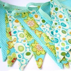 Bunting - Cotton Bunting 'Sea Breeze' £17.99 from Hollie Lollie