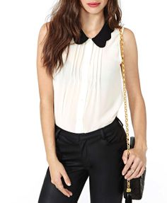 Sleeveless Pleating Chiffon Blouse