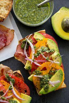 Avocado Salad Toasts | thecozyapron.com