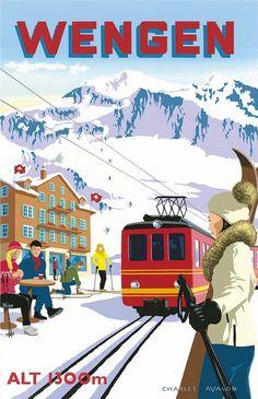 Ski Wengen ~ Charles Avalon