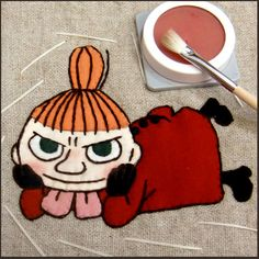 Cool step by step crafting Little My! Handmade Crafts, Diy And Crafts, All My Loving, Moomin, Museum Exhibition, Little My, Felt Crafts, Embroidery Stitches, Paper Art