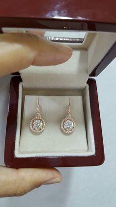 Diamond earrings center 1.20ct