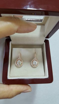 Diamond earrings center 1.20ct