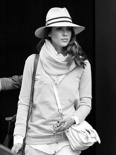 Jessica Alba. love this look