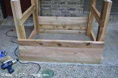 how to build an elevated garden bed table 10