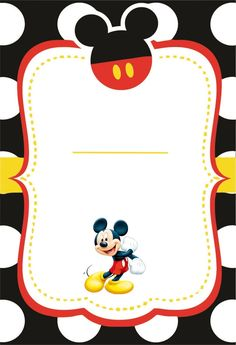 Mickey Mouse Frame, Mickey Mouse Classroom, Fiesta Mickey Mouse, Mickey Mouse Bday, Mickey Mouse Parties, Mickey Party, Mickey Mouse Birthday, Mickey Mouse Clubhouse Invitations, 1st Birthday Party Invitations