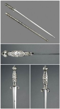 Short sword with Scabbard. Dated: circa 1753. Culture: Southeastern European. Medium: steel, wood and silver niello work. | Copyright © 2015 The Wallace Collection