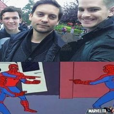 There needs to bE AN ALTERNATE UNIVERSE WHERE THERE ARE ALL THREE OF THESE PRECIOUS SPIDER MEN!!!!!