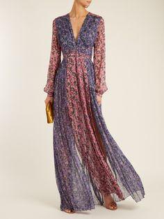 Raquel Diniz Valentina floral-print silk-georgette gown