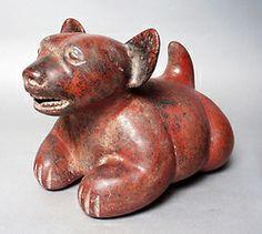 Los ejemplos de los perros representados en el antiguo arte mexicano.