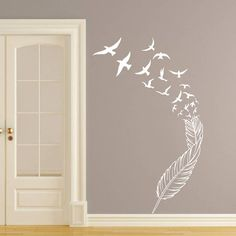 Wall Decal Vinyl Sticker Decals Art Home Decor Murals Feather Birds Nib Style Feather Peacock Living Room Modern Fashion Bedroom Dorm Decals Wall Stickers Murals, Vinyl Wall Decals, Wall Murals, Peacock Living Room, Room Wall Colors, Wall Painting Decor, Accent Wall Bedroom, Mural Art, Bedroom Styles