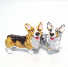 Pembroke Welsh Corgi Dog Ceramic Figurine Salt Pepper Shaker 00037 Ceramic Handmade Dog Lover Gift Collectible Home Decor Art and Crafts by Corgi - madamepOmm -. $59.00. Pembroke Welsh Corgi Dog Lover Ceramic Original Handmade Hand Paint Salt and Pepper Shaker Figurine Ceramic Home Decor Collectibles  Made of ceramic porcelain high fired interior apply clear under-glaze, food safe painted with attention hand painted acrylic paint then apply clear gloss protected.  It'...