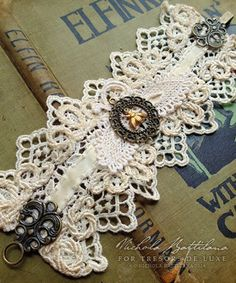 Pixie Hill: Lace Wrist Cuff for Tresors de Luxe