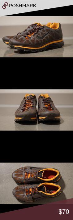 Nike Air Max 2012 Burnt Orange/Gun Metal Grey; used, slightly worn Nike Shoes Athletic Shoes