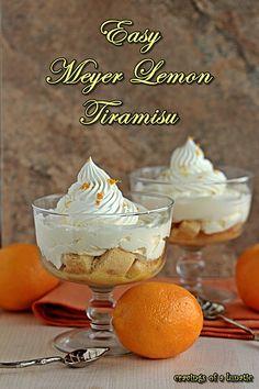 Easy Mini Meyer Lemon Tiramisu | Cravings of a Lunatic | Easy and DELICIOUS!