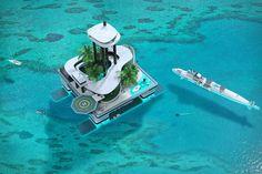 Migaloo Kokomo floating bldg and Submersible Yacht