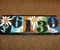 Mosaic Wall Mirror, or Welcome Sign