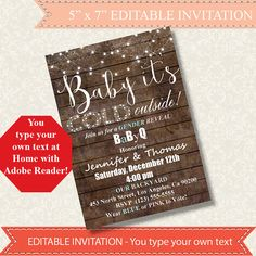Baby it's cold outside Gender Reveal Invitation by ByMiniStore
