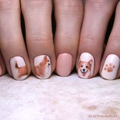 #WelshCorgi Nails  #geeknails #ladymarengo #шеллак #гельлак #нейларт #ногти #маникюр #дизайнногтей #nailart #naildesign #nails #corgi #dog #корги #собака