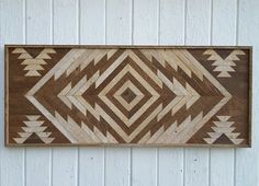 Reclaimed Wood Wall Art-Chevron Diamond-Twin by PastReclaimed