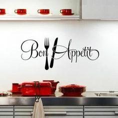Bon appetit cuisine stickers muraux décoration de la maison -1564 Fond d'écran