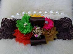 Thanksgiving Headband/Infant Headband/Newborn Headband/Girl Headband/Baby Girl Headband/Easter Headband/Baby Headband/Photo Prop by OohLaLaDivasandDudes on Etsy