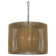 Cal Lighting Burlap Metal Pendant : Target