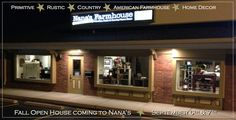 The front of the NEW Nana's Farmhouse in St. Louis at night.