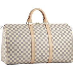 Louis Vuitton Damier Azur Canvas Keepall 50 N41430 Ali....I have always wanted a Louis weekend bag.