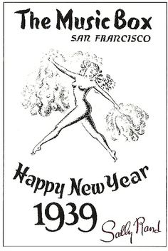 New Years Eve Poster Art 1939. Image courtesy of the Great American Music Hall.