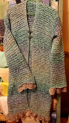 Loom Knit Knee Length Sweater Free pattern in Craft Craze Group