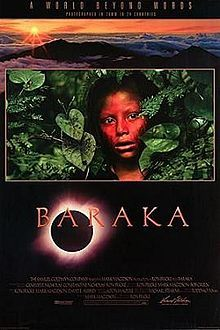 Baraka :: theatrical poster :: The title Baraka means blessing in a multitude of languages